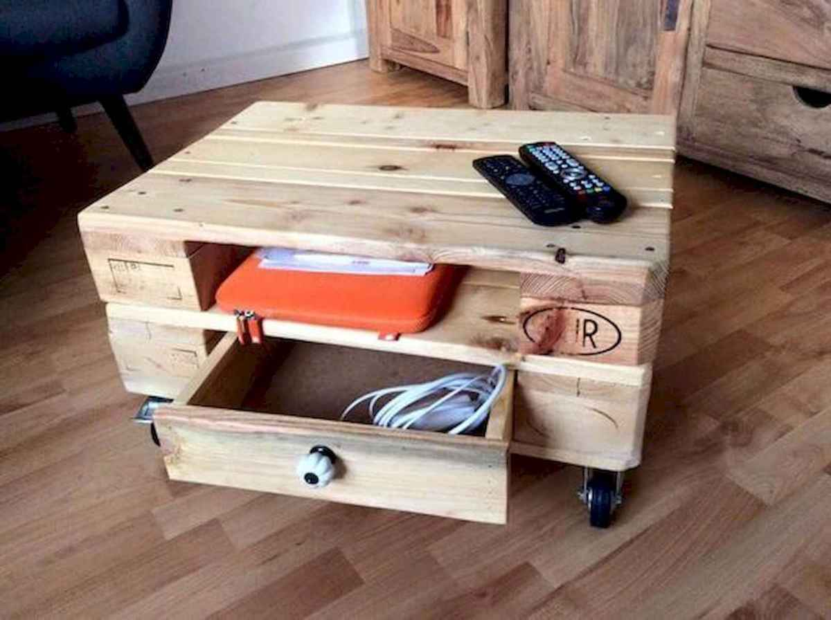 70 Suprising DIY Projects Mini Pallet Coffee Table Design Ideas (46)