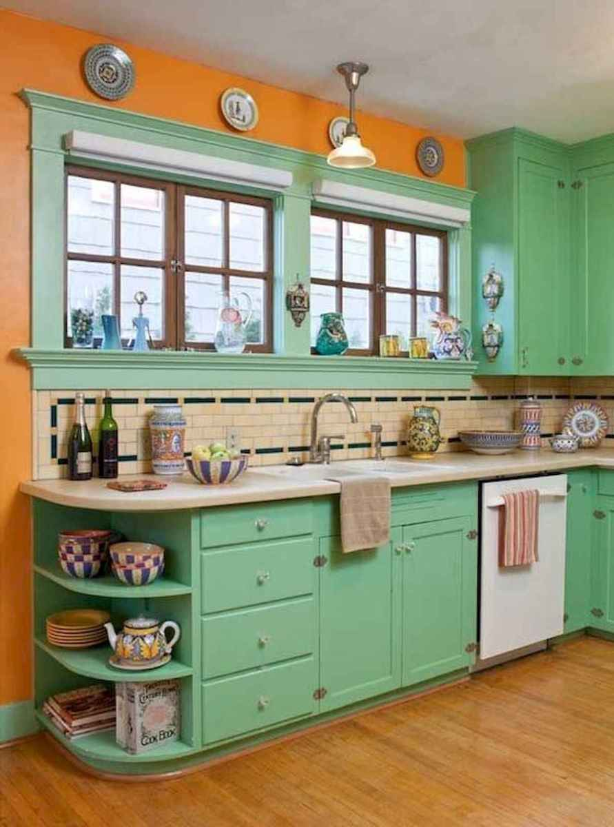 80+ Favorite Colorful Kitchen Decor Ideas And Remodel for Summer Project (11)