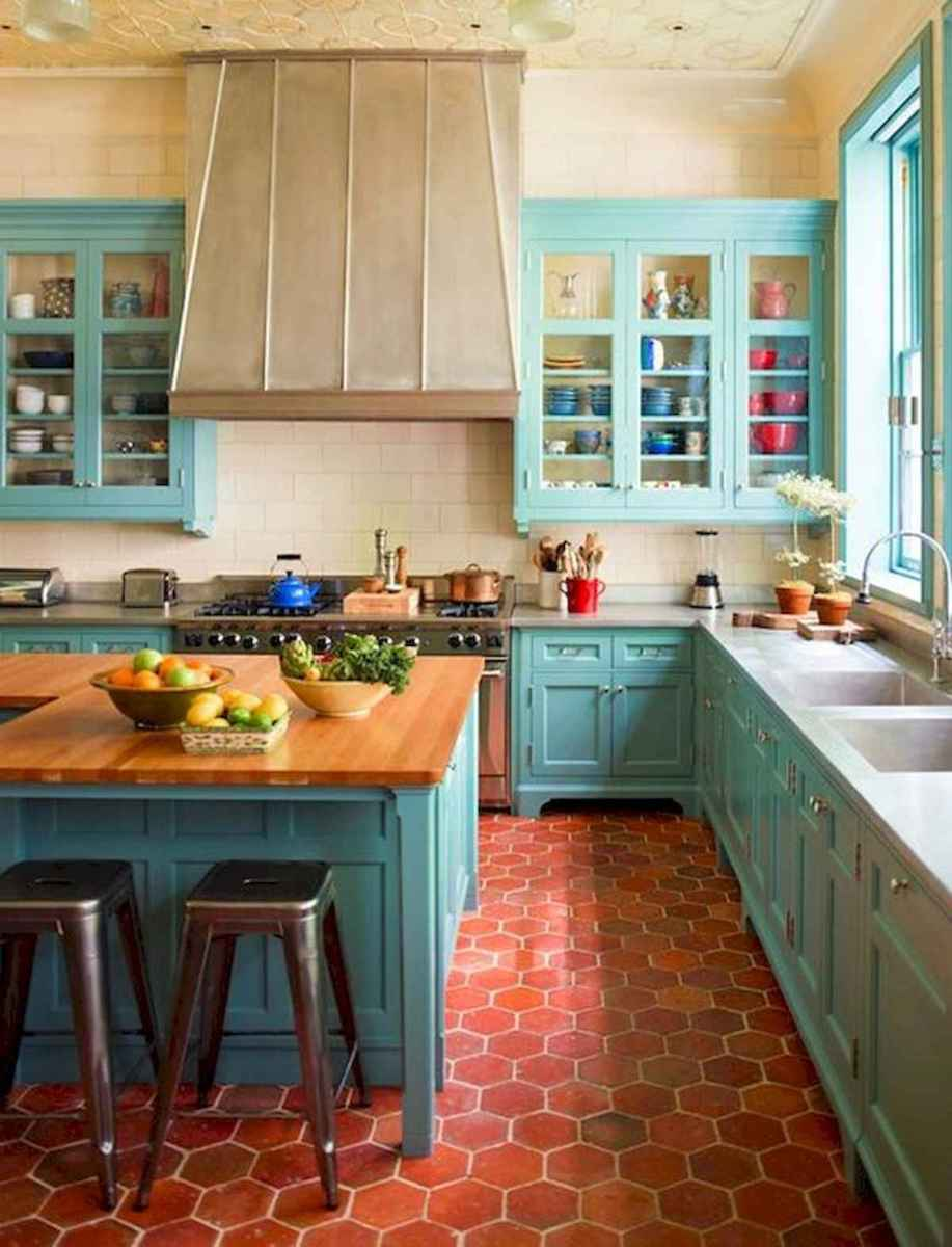 80+ Favorite Colorful Kitchen Decor Ideas And Remodel for Summer Project (33)