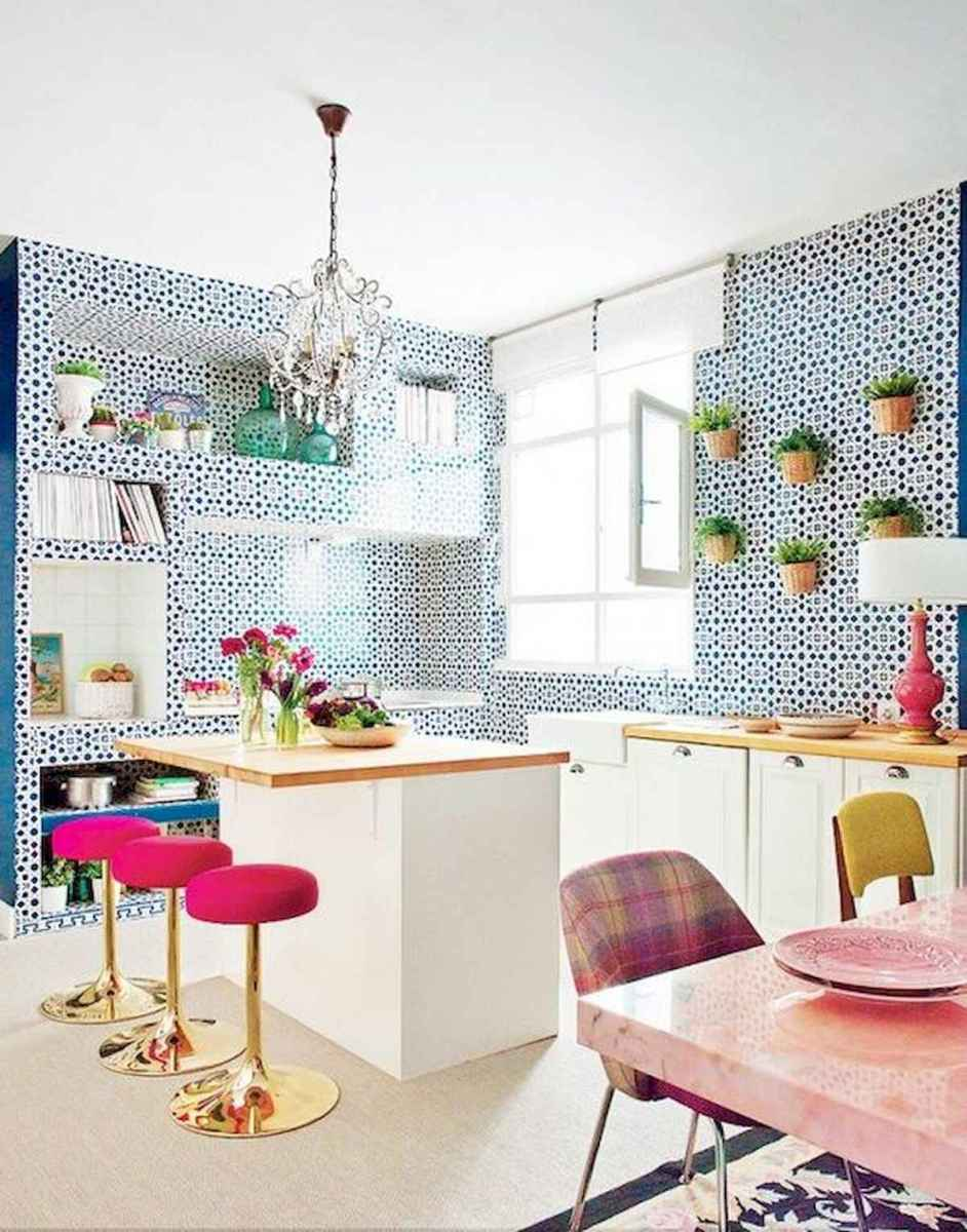 80+ Favorite Colorful Kitchen Decor Ideas And Remodel for Summer Project (50)