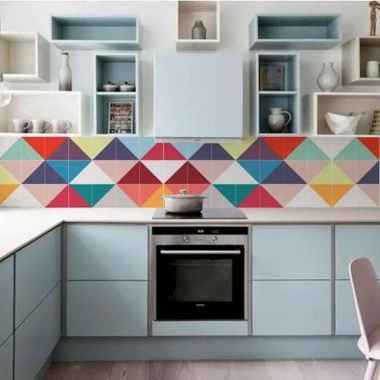 80+ Favorite Colorful Kitchen Decor Ideas And Remodel for Summer Project (89)