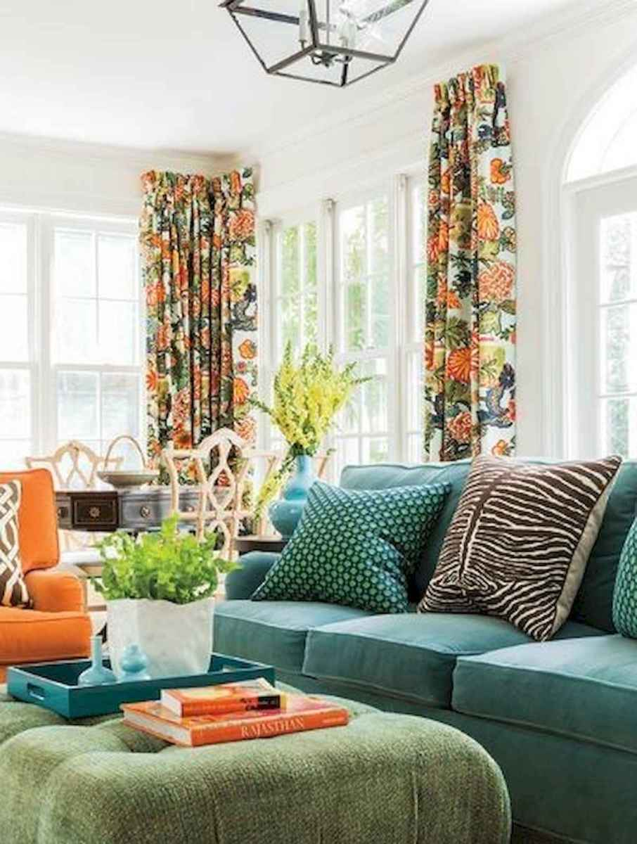 80+ Stunning Colorful Living Room Decor Ideas And Remodel for Summer Project (42)
