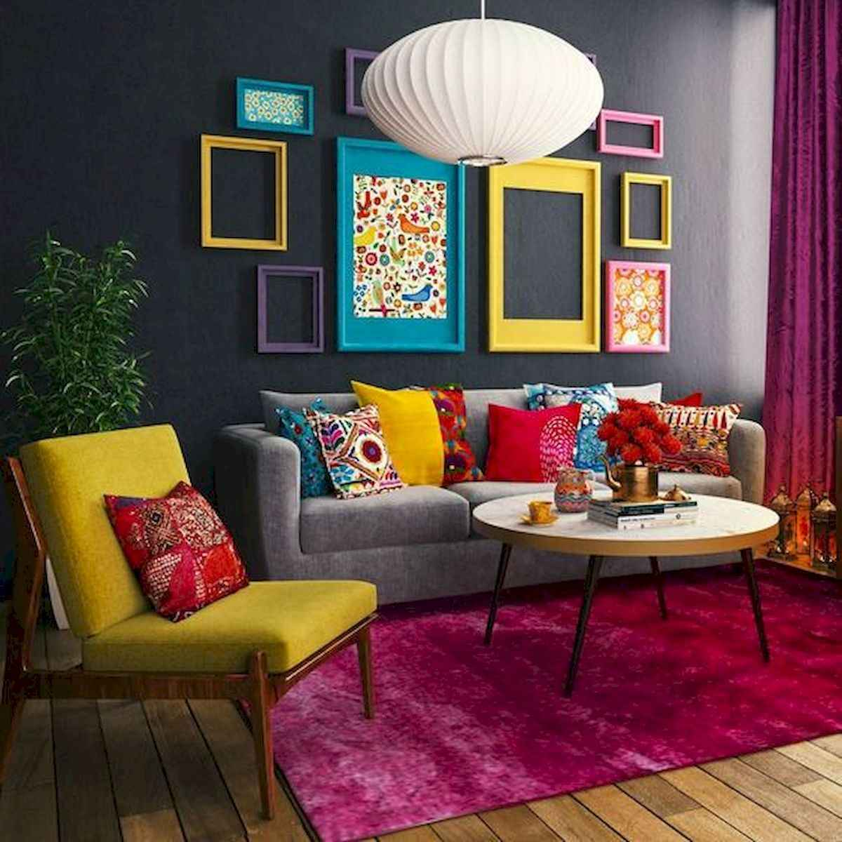 80+ Stunning Colorful Living Room Decor Ideas And Remodel for Summer Project (43)