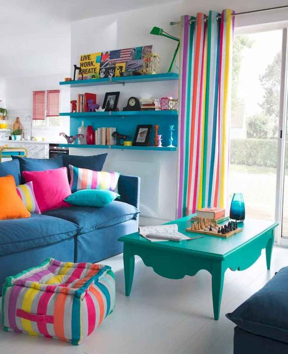 80+ Stunning Colorful Living Room Decor Ideas And Remodel for Summer Project (60)