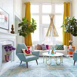 80+ Stunning Colorful Living Room Decor Ideas And Remodel for Summer Project (72)