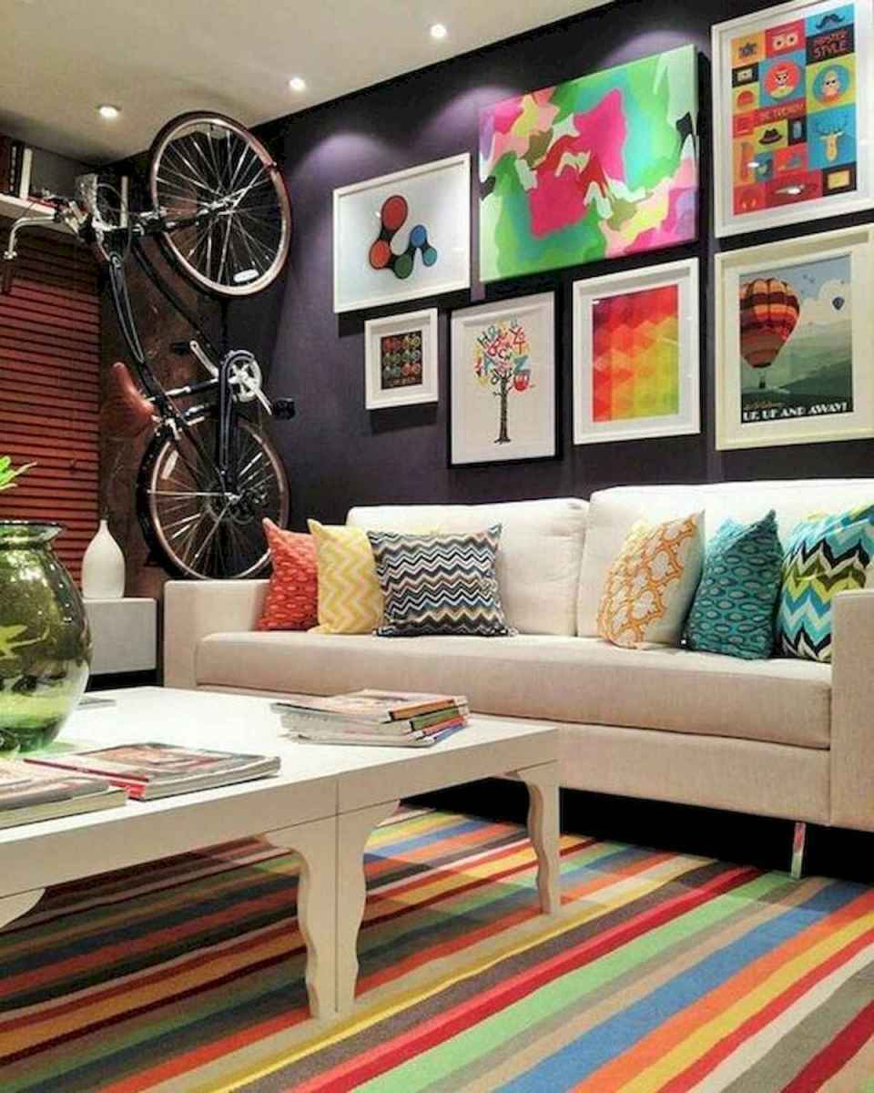 80+ Stunning Colorful Living Room Decor Ideas And Remodel for Summer Project (83)