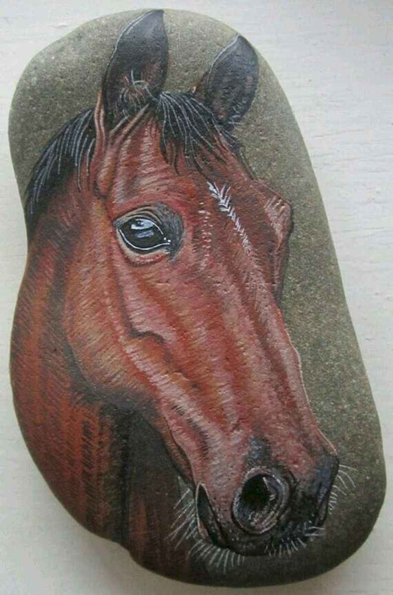 25 Suprising DIY Projects Painted Rocks Animals Horse for Summer Ideas (19)