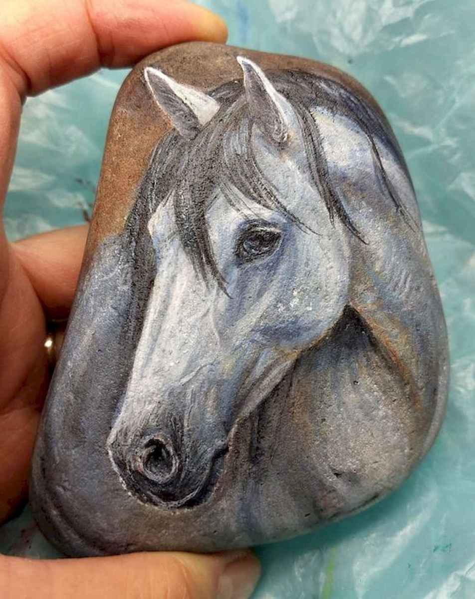 25 Suprising DIY Projects Painted Rocks Animals Horse for Summer Ideas (2)