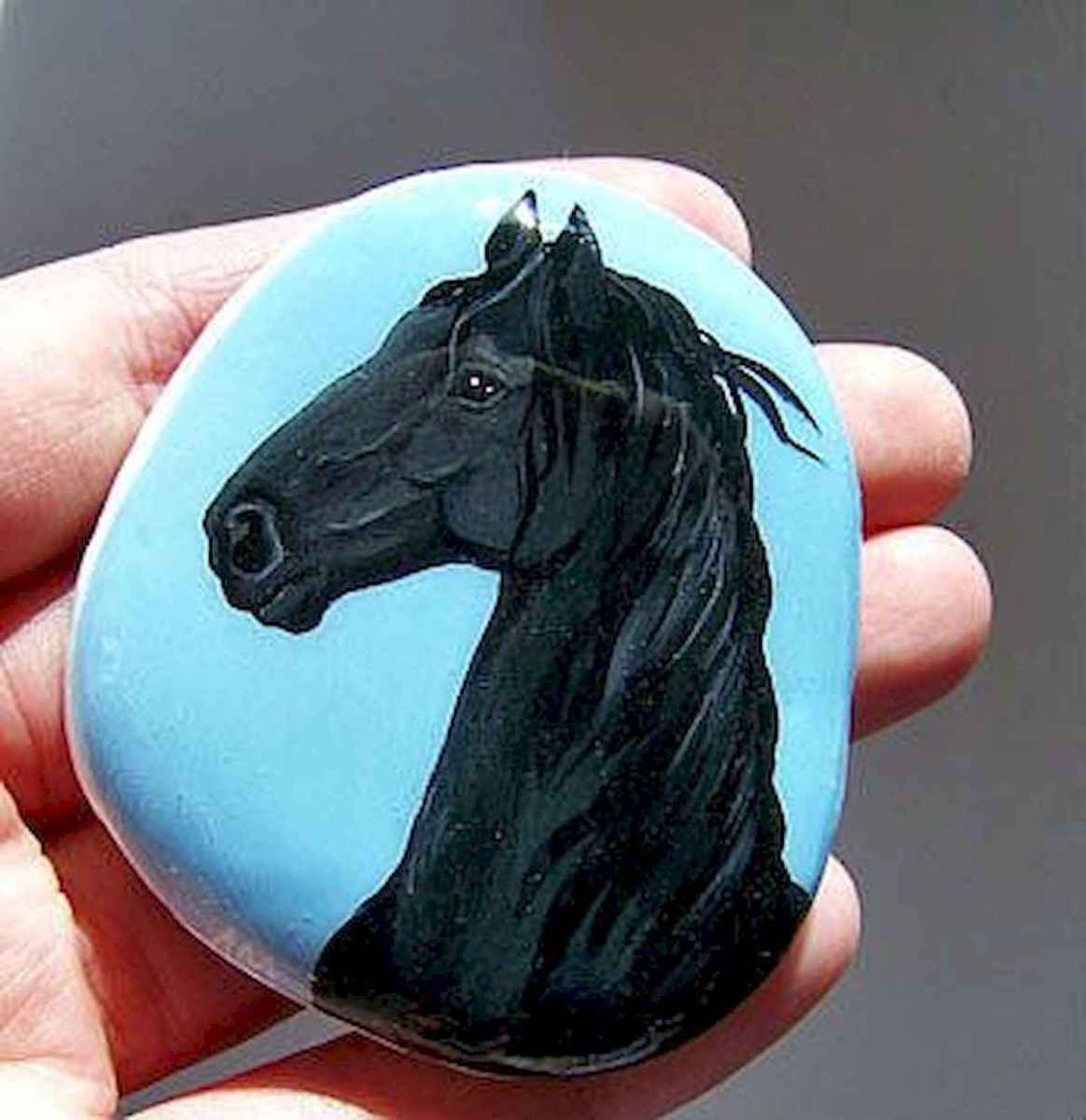 25 Suprising DIY Projects Painted Rocks Animals Horse for Summer Ideas (23)