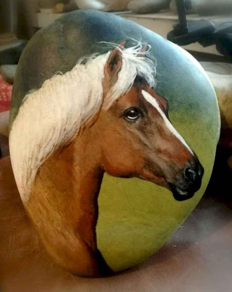25 Suprising DIY Projects Painted Rocks Animals Horse for Summer Ideas (3)
