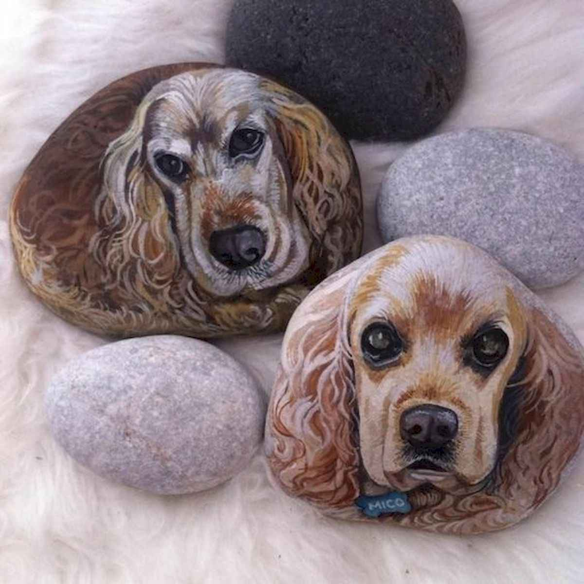 40 Awesome DIY Projects Painted Rocks Animals Dogs for Summer Ideas (19)