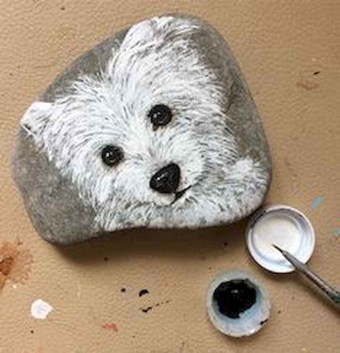 40 Awesome DIY Projects Painted Rocks Animals Dogs for Summer Ideas (30)