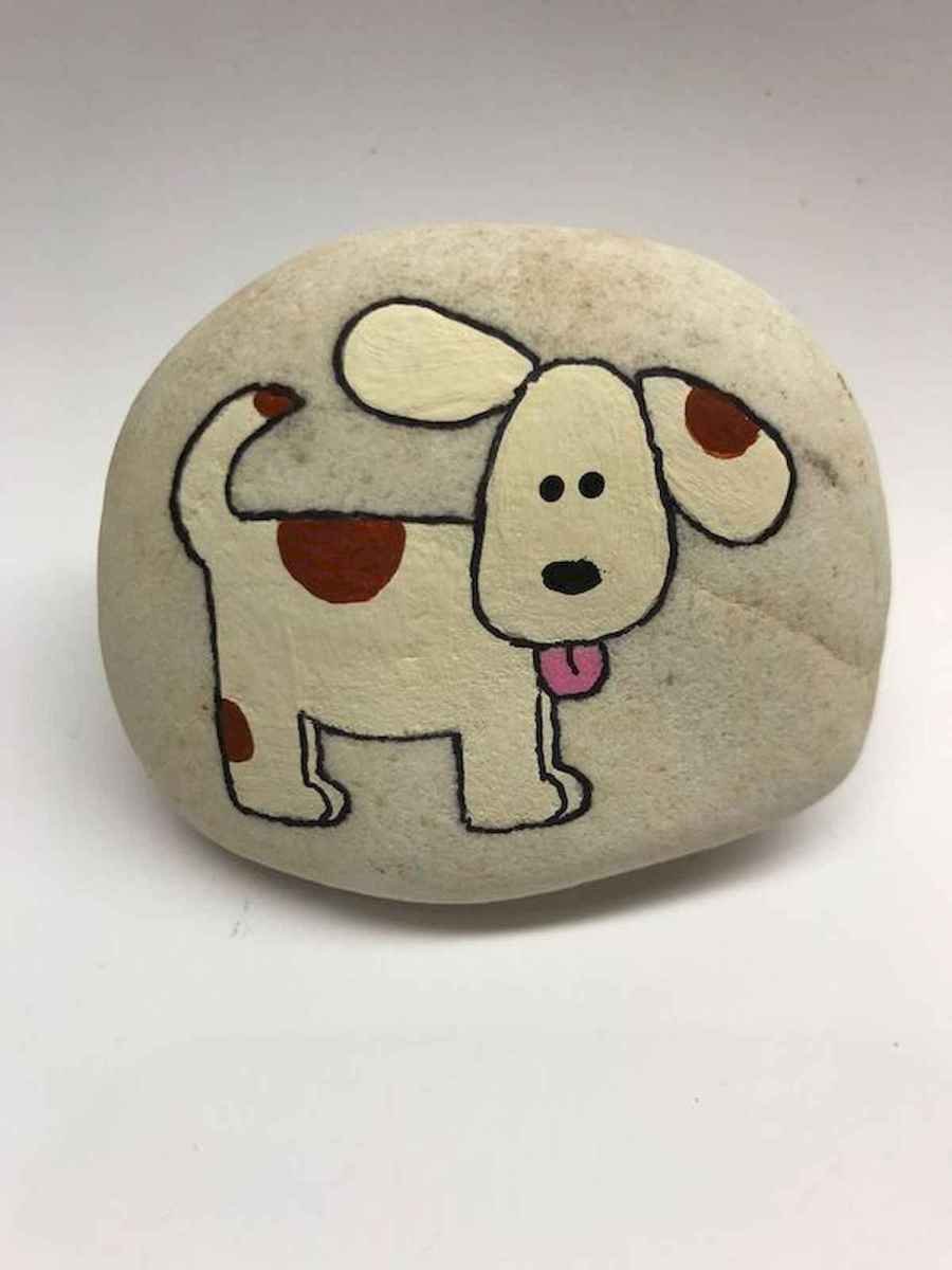 40 Awesome DIY Projects Painted Rocks Animals Dogs for Summer Ideas (9)
