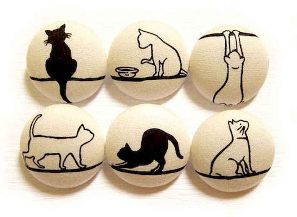 50 Inspiring DIY Painted Rocks Animals Cats for Summer Ideas (2)