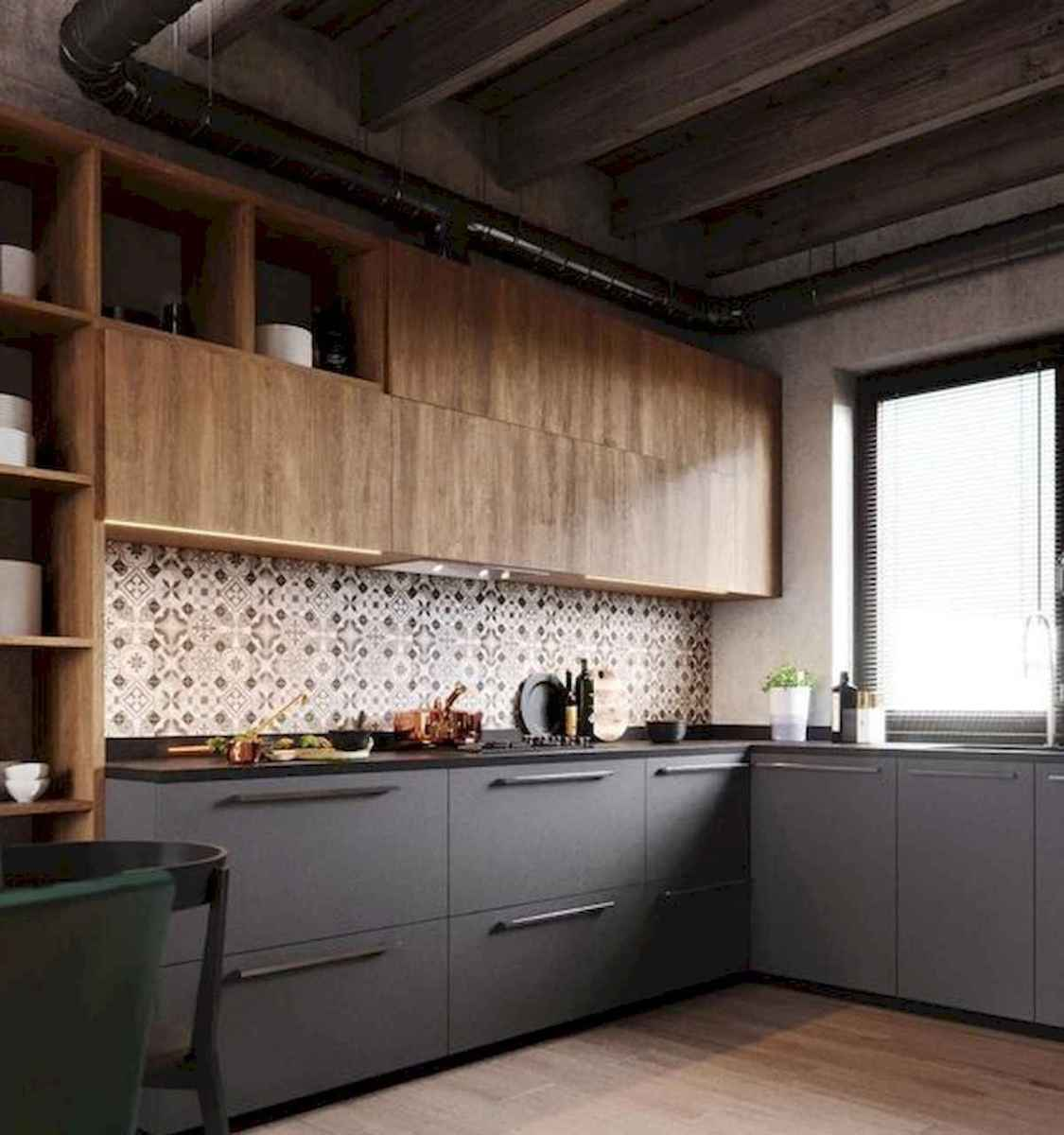 60 Lovely Painted Kitchen Cabinets Two Tone Design Ideas (15)