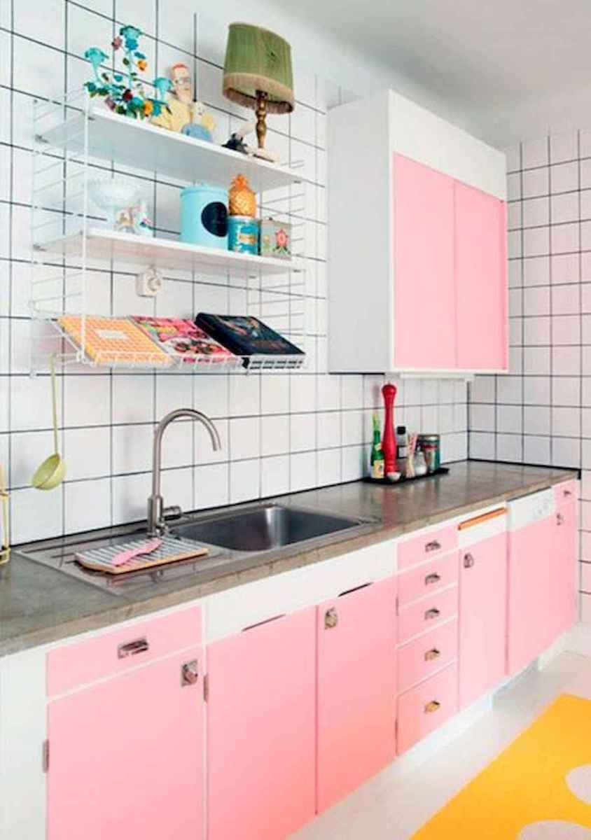 60 Lovely Painted Kitchen Cabinets Two Tone Design Ideas (23)
