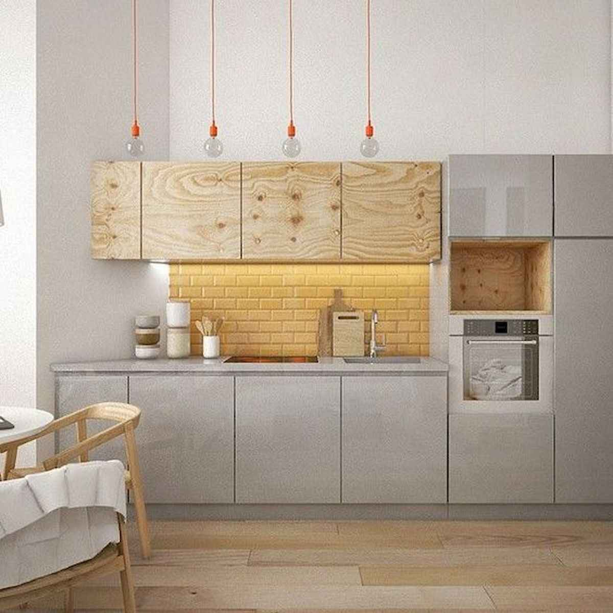 60 Lovely Painted Kitchen Cabinets Two Tone Design Ideas (26)