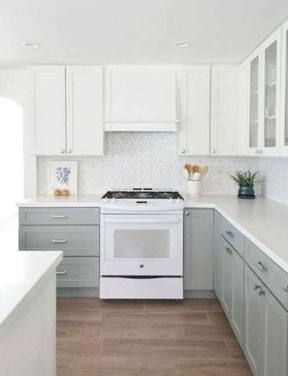 60 Lovely Painted Kitchen Cabinets Two Tone Design Ideas (3)