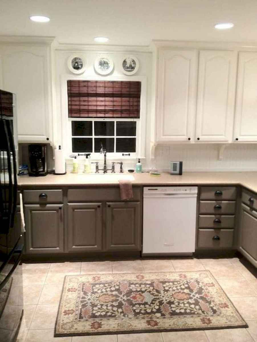 60 Lovely Painted Kitchen Cabinets Two Tone Design Ideas (35)