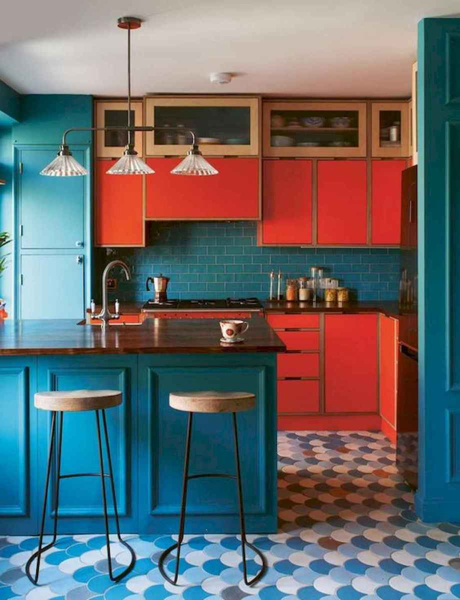 60 Lovely Painted Kitchen Cabinets Two Tone Design Ideas (37)