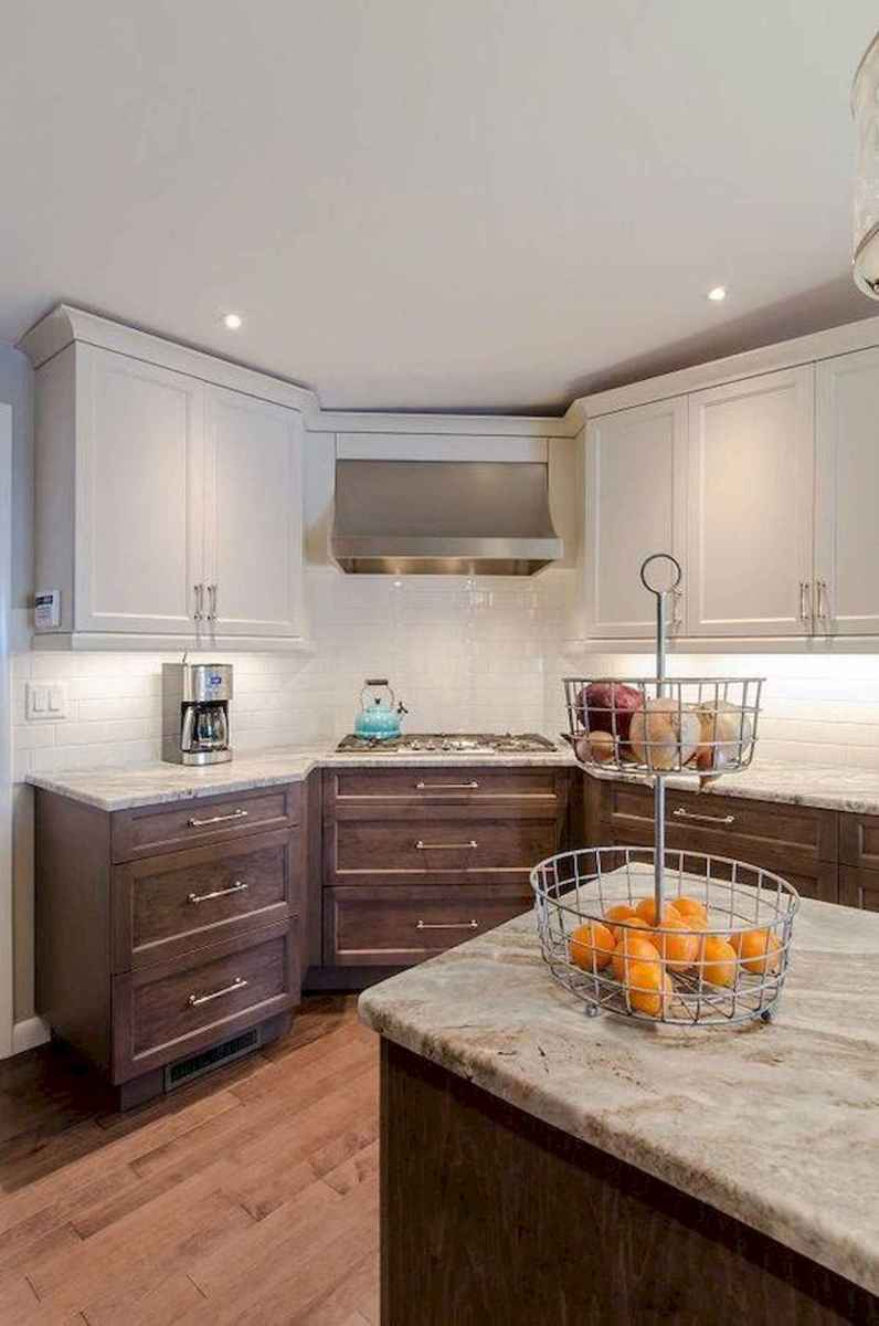 60 Lovely Painted Kitchen Cabinets Two Tone Design Ideas (4)