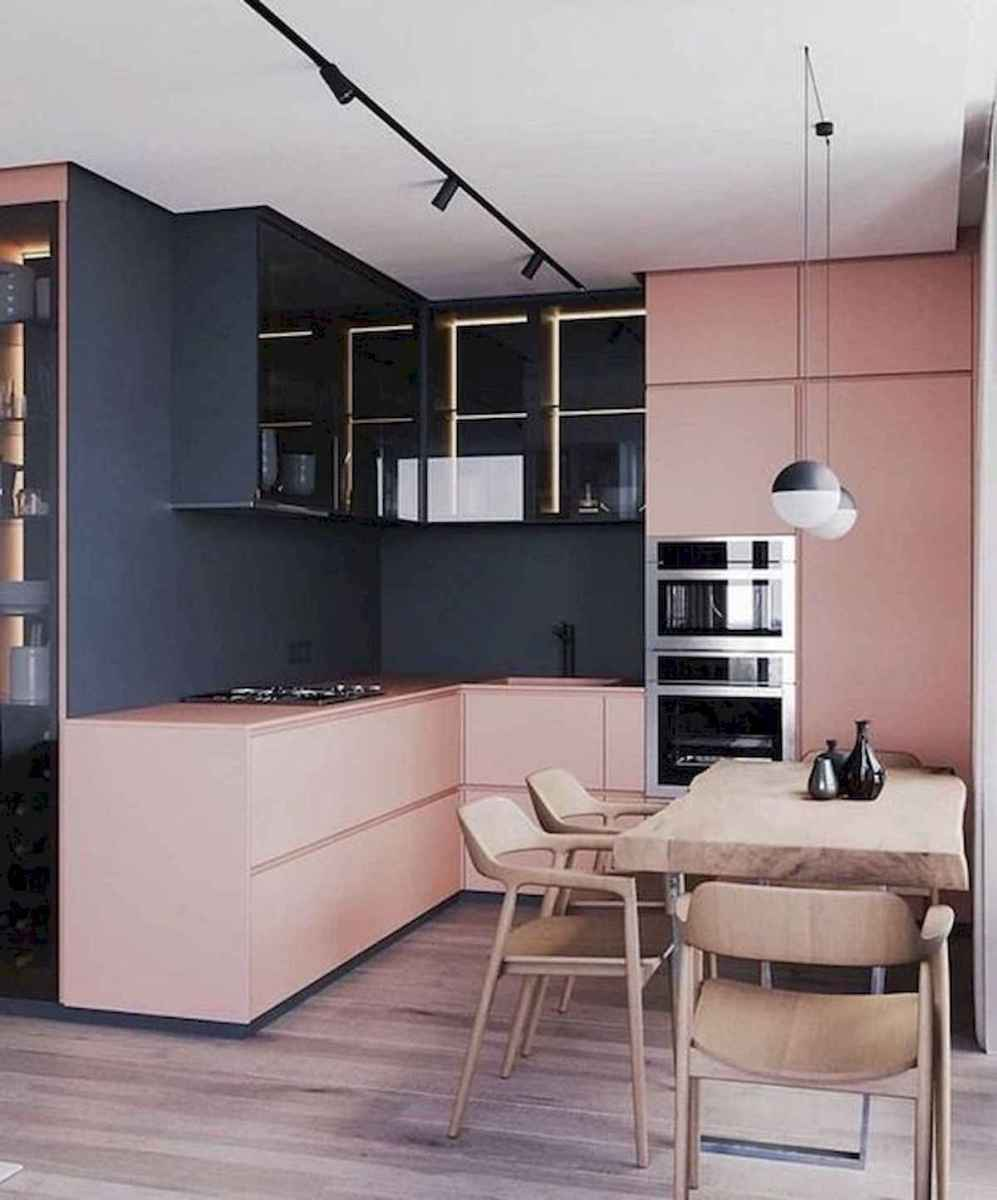 60 Lovely Painted Kitchen Cabinets Two Tone Design Ideas (42)