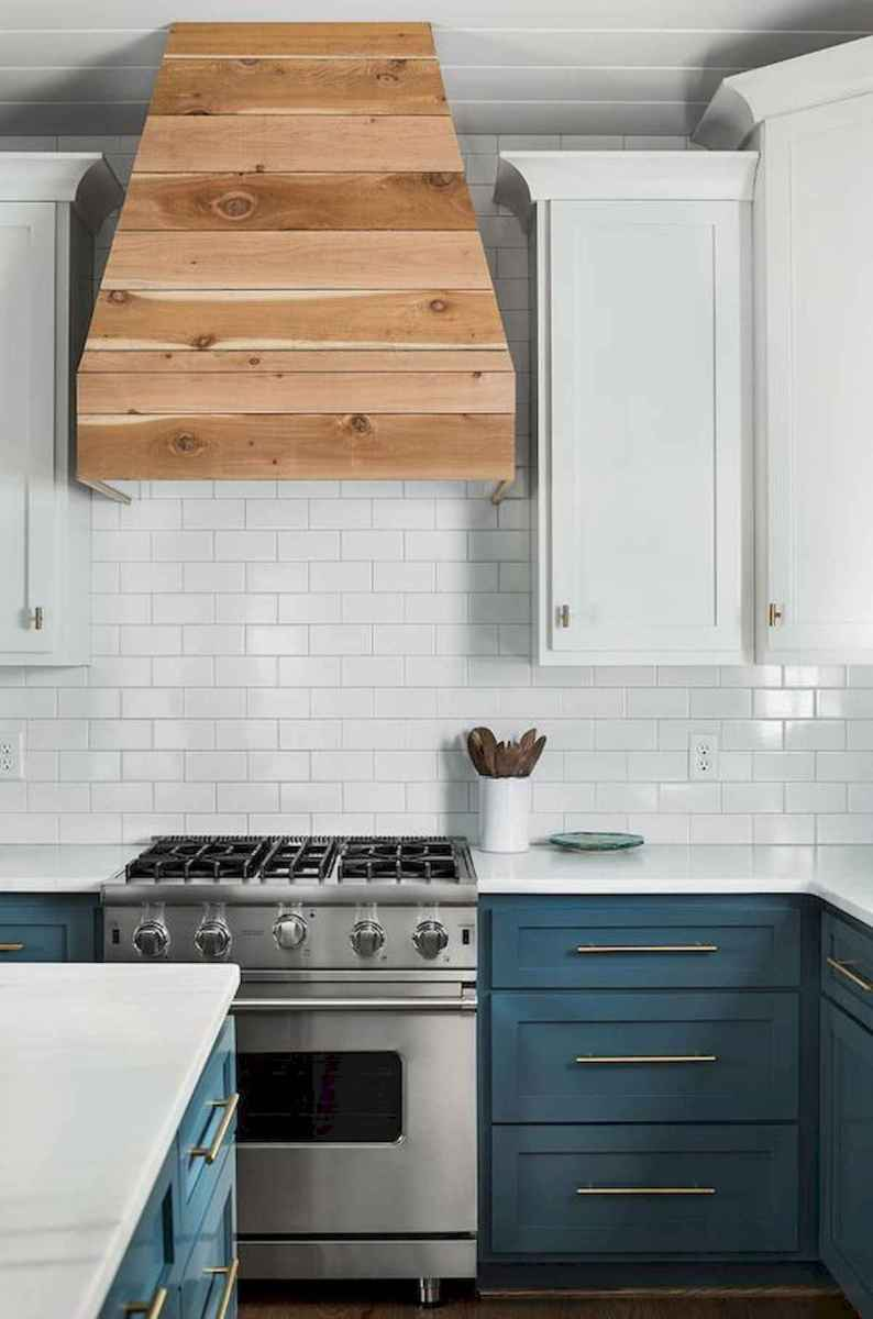 60 Lovely Painted Kitchen Cabinets Two Tone Design Ideas (50)
