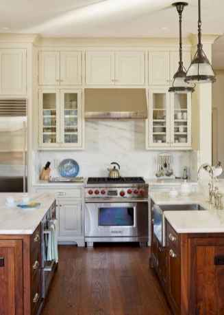 60 Lovely Painted Kitchen Cabinets Two Tone Design Ideas (51)