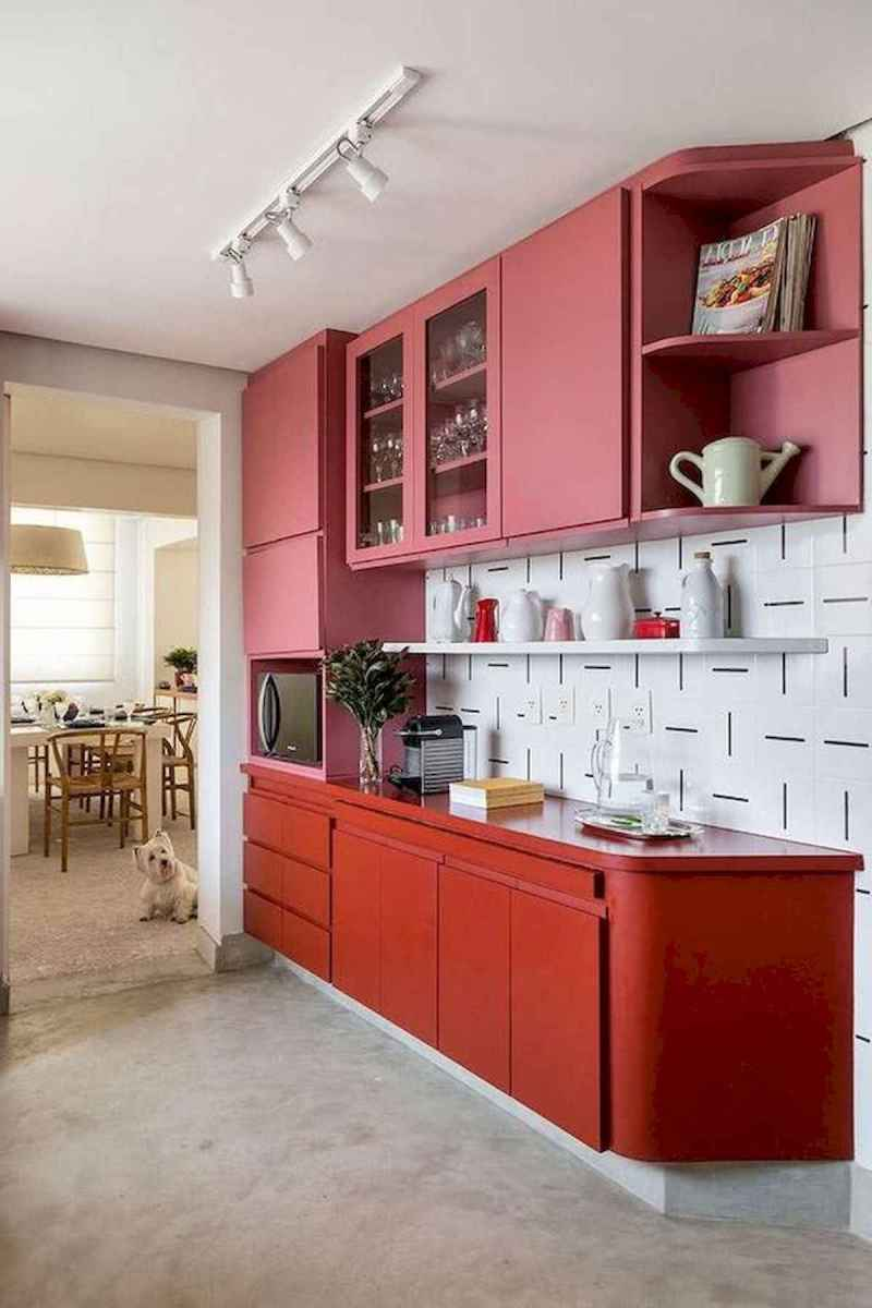 60 Lovely Painted Kitchen Cabinets Two Tone Design Ideas (54)