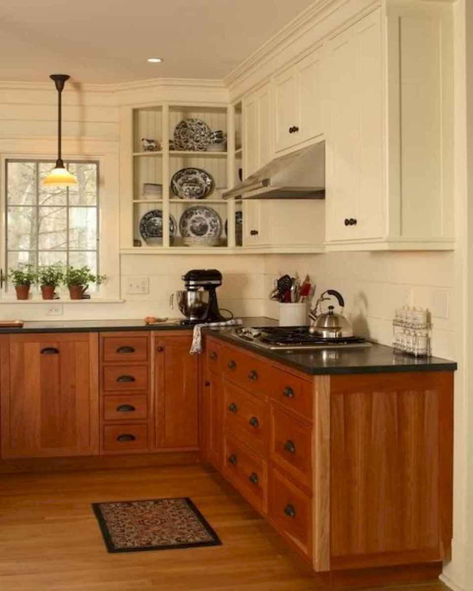 60 Lovely Painted Kitchen Cabinets Two Tone Design Ideas (59)