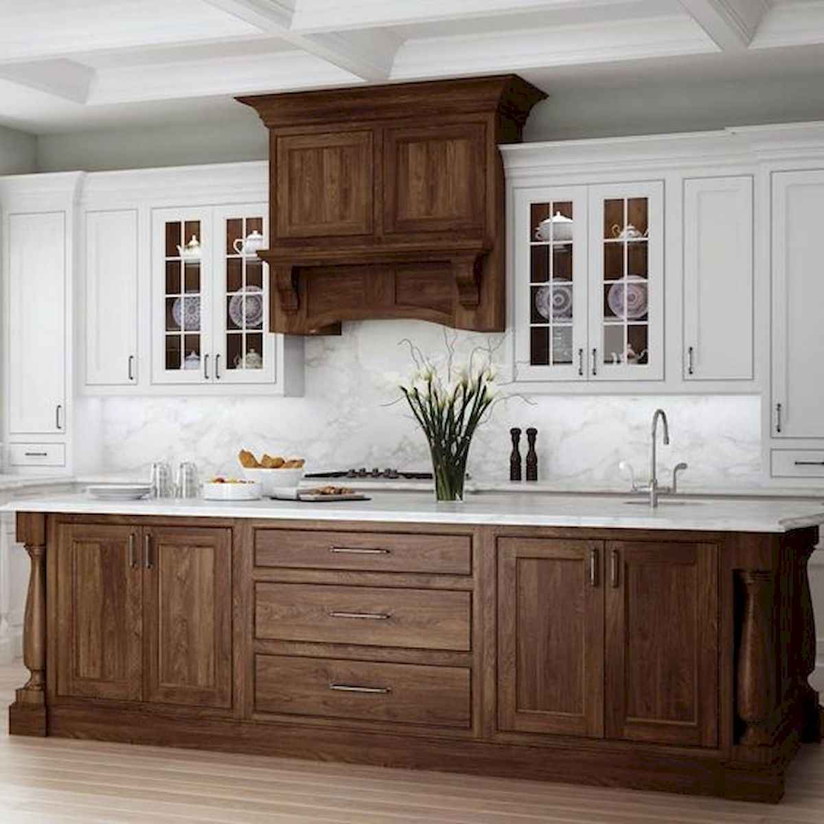 60 Lovely Painted Kitchen Cabinets Two Tone Design Ideas (6)