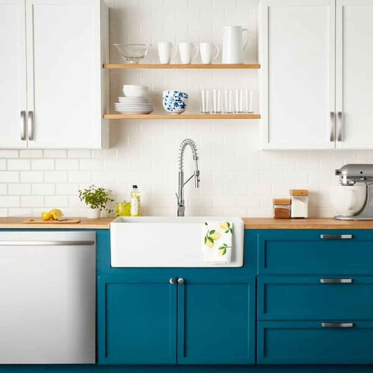 60 Lovely Painted Kitchen Cabinets Two Tone Design Ideas (8)
