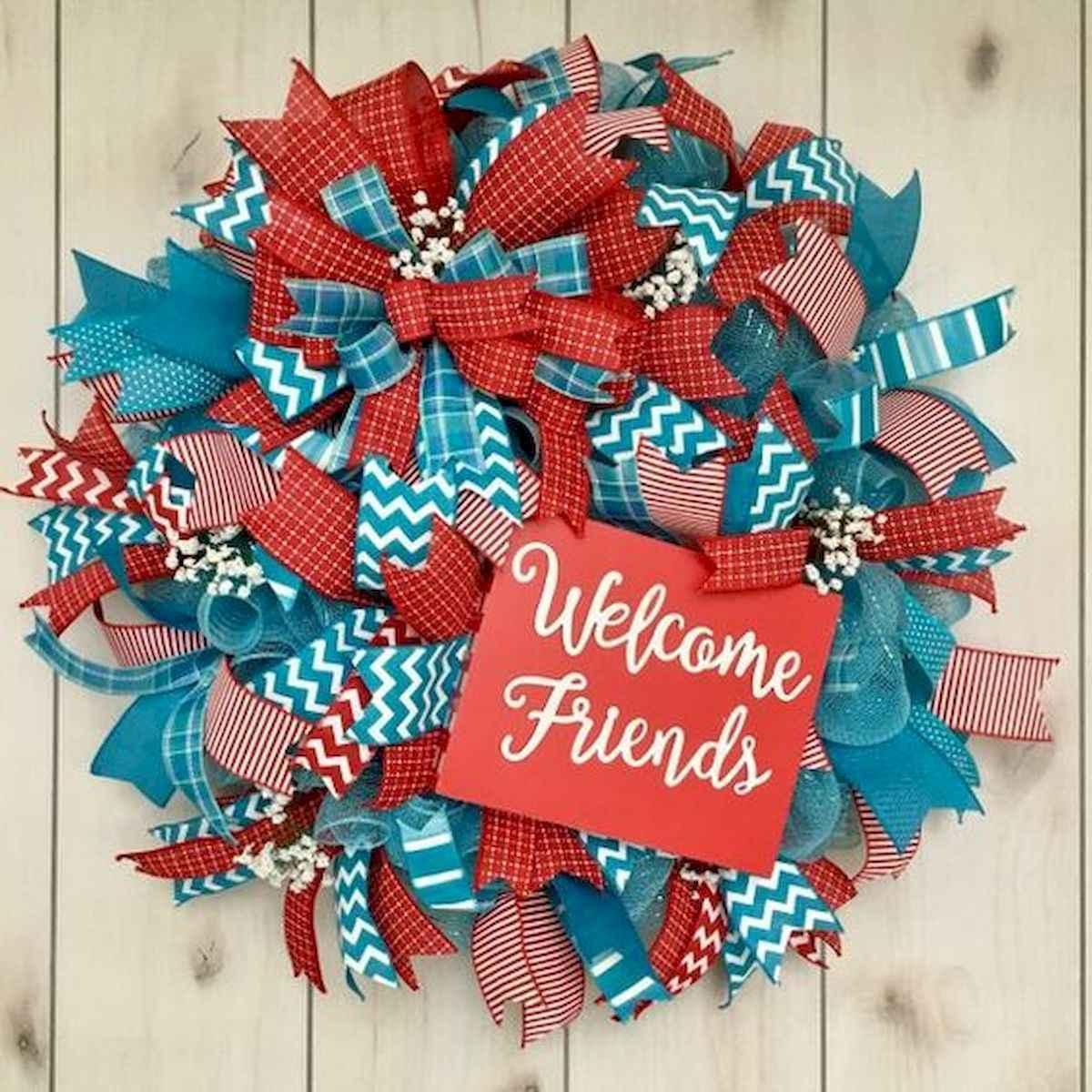 60 Beautiful Front Door Summer Wreath Decor Ideas (22)