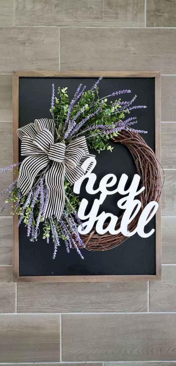 60 Beautiful Front Door Summer Wreath Decor Ideas (49)