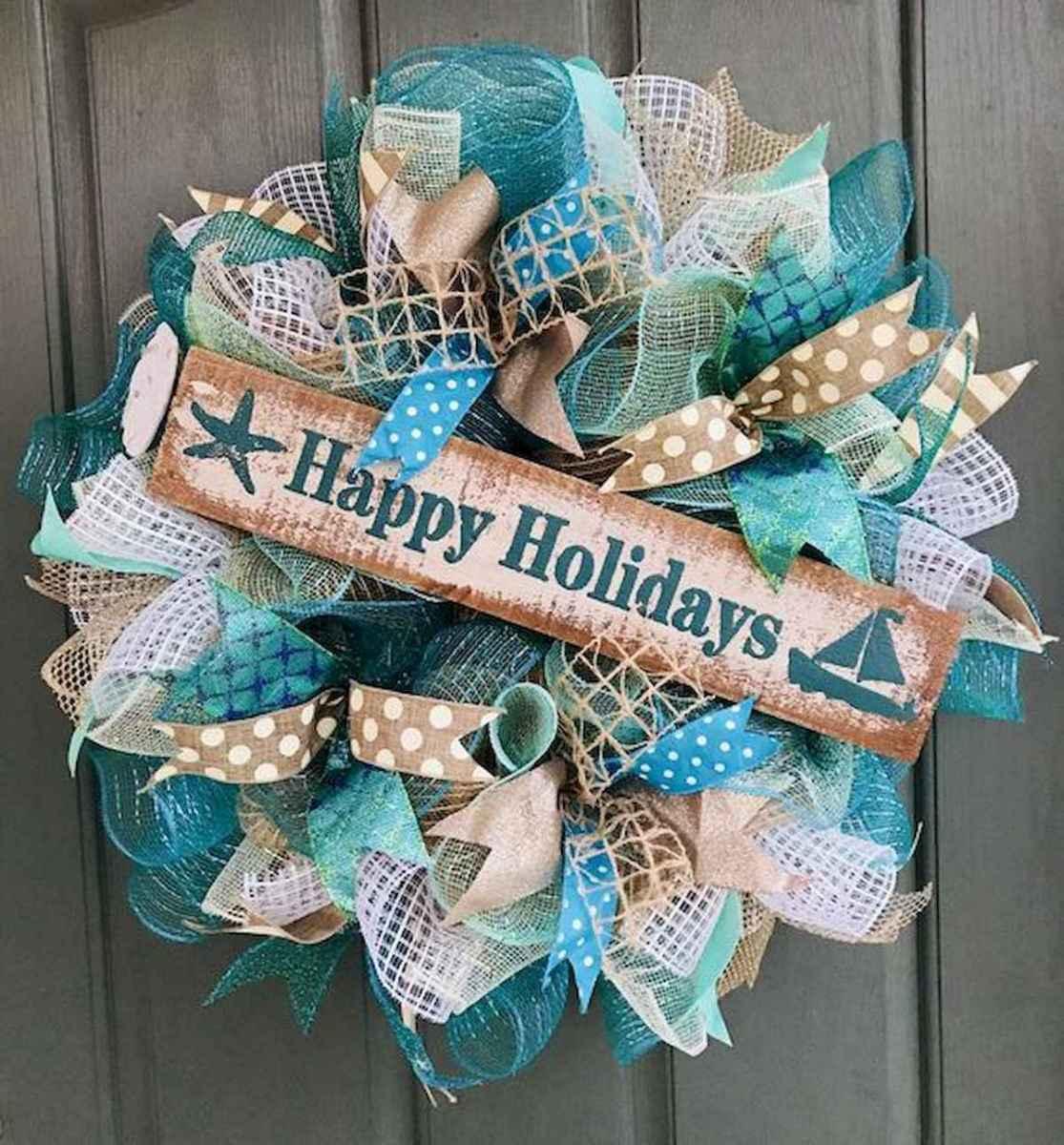 60 Beautiful Front Door Summer Wreath Decor Ideas (52)