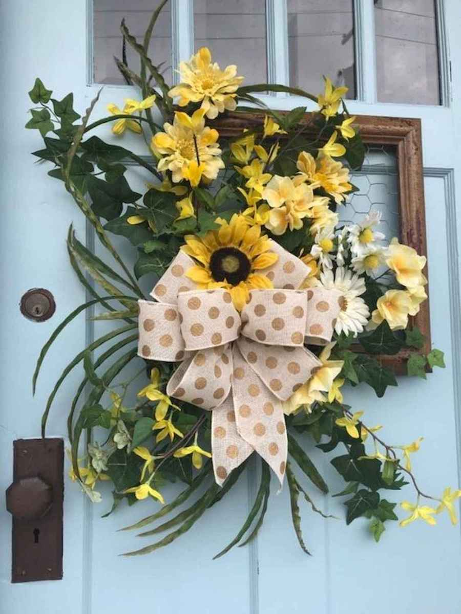 60 Lovely Summer Wreath Design Ideas and Remodel (25)
