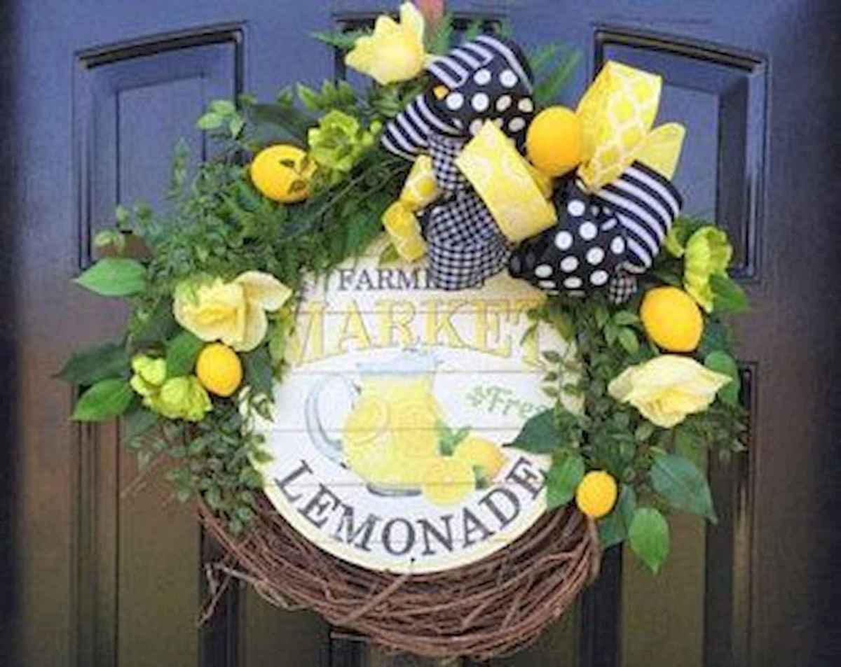 60 Lovely Summer Wreath Design Ideas and Remodel (44)
