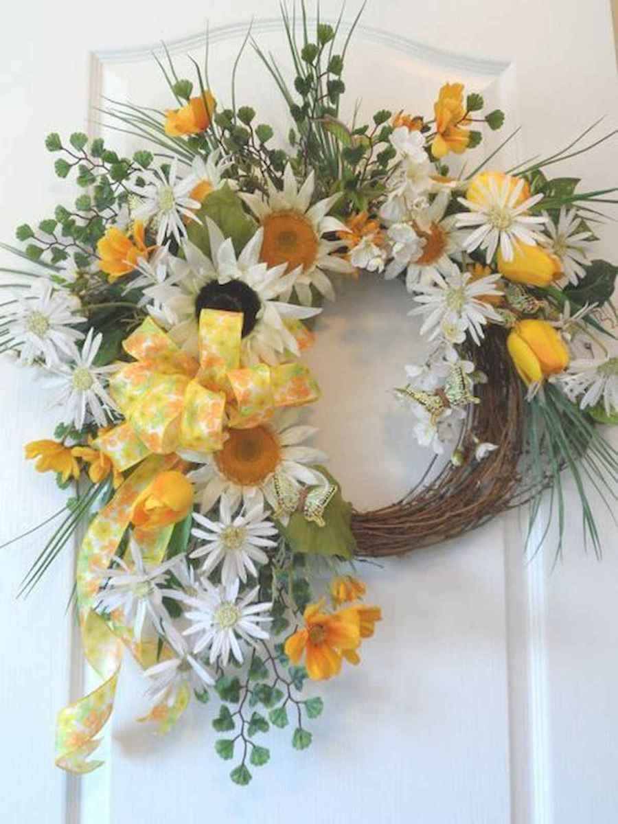 60 Lovely Summer Wreath Design Ideas and Remodel (51)