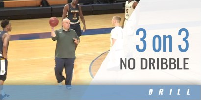 3 on 3 No Dribble Drill
