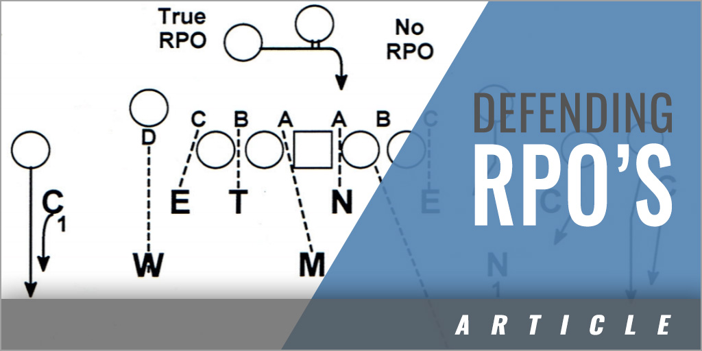 Defending RPO's with Man Coverage
