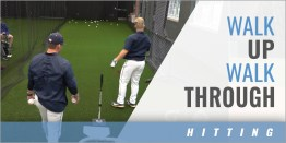 Hitting: Walk Up, Walk Through Tee Drill