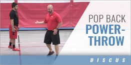 Discus: Pop Back Power-Throw Drill