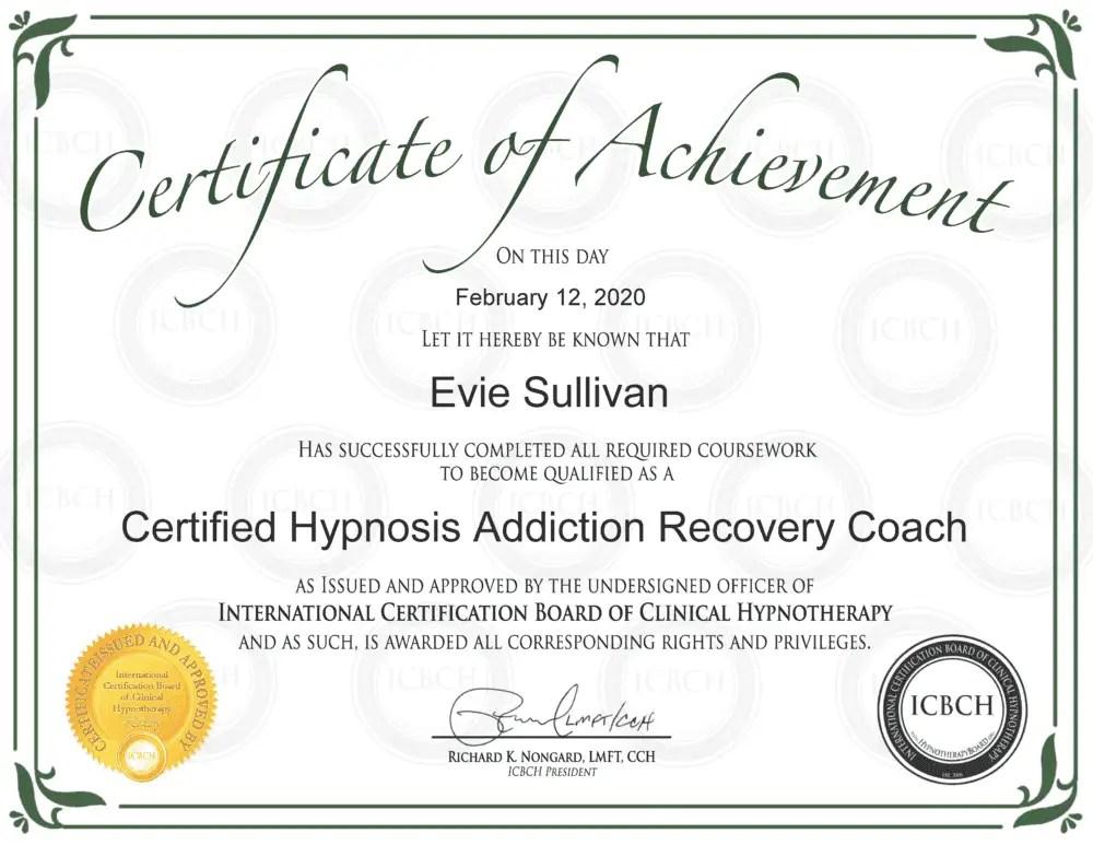 Evie Sullivan, Certified Addiction Coach
