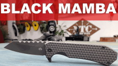 Off-Grid Knives BLACK MAMBA Folding Knife Review