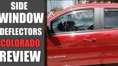 Weathertech Side Window Deflectors Review- Chevy Colorado