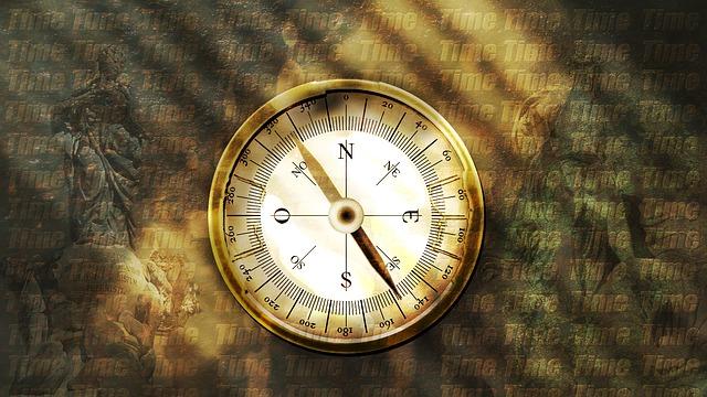 Kompass als Symbol für die Unternehmenskultur