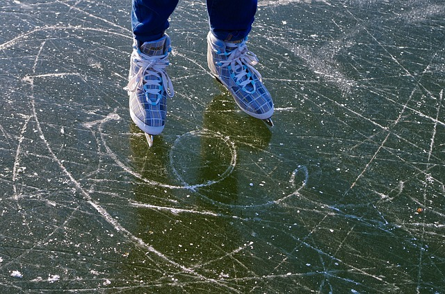 Angst überwinden beim Schlittschuhlaufen