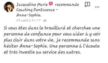Témoignage Jacqueline