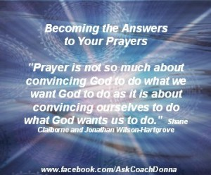 prayer is convincing ourselves