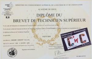 Diplome + carte